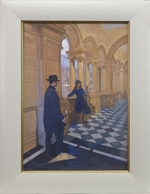 Lot 622-KELVINGROVE TRYST, AN OIL BY ANDREW FITZPATRICK