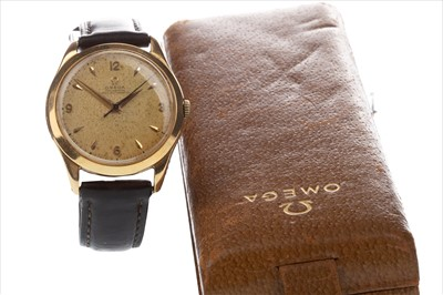 Lot 787-A GENTLEMAN'S OMEGA EIGHTEEN CARAT GOLD WRIST WATCH