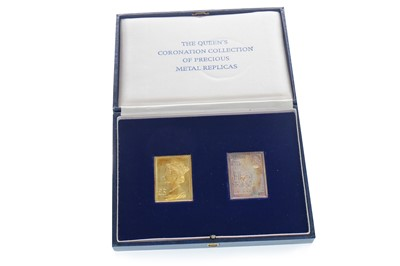 Lot 9-A GOLD AND SILVER STAMP SET