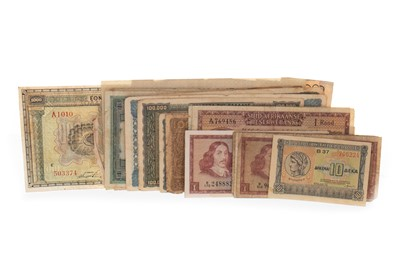 Lot 12-A LOT OF 20TH CENTURY INTERNATIONAL BANKNOTES