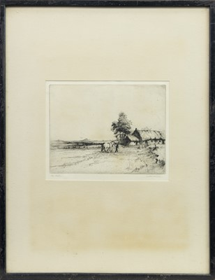 Lot 2-THE CROFT, AN ETCHING BY HENRY JACKSON SIMPSON