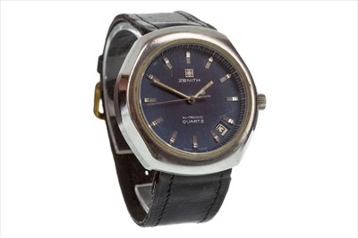Lot 795-A GENTLEMAN'S ZENITH STEEL WATCH