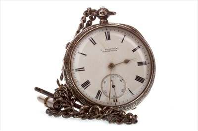 Lot 797-A SILVER OPEN FACE POCKET WATCH