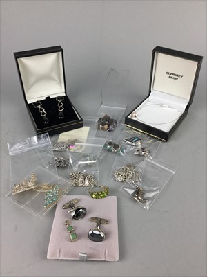 Lot 1-A LOT OF MOSTLY SILVER JEWELLERY