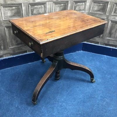 Lot 1603-A 19TH CENTURY MAHOGANY TEA TABLE