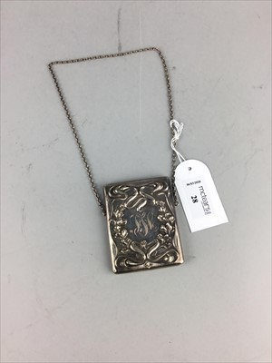Lot 28-AN AMERICAN STERLING SILVER CALLING CARD CASE
