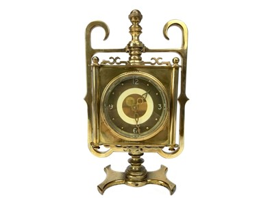 Lot 1111-A MID-20TH CENTURY BRASS CASED MANTEL CLOCK