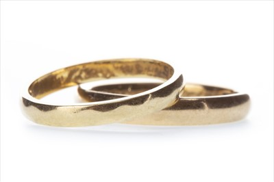 Lot 339-TWO EIGHTEEN CARAT GOLD WEDDING BANDS