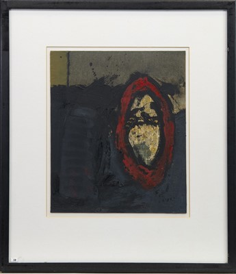 Lot 10-RED PRESENCE, AN OIL BY JAMES GAVIN