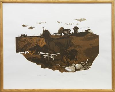 Lot 12-OCTOBER FIELDS, A SCREENPRINT BY JOAN WILSON