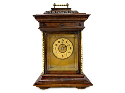 Lot 1113-A RARE 19TH CENTURY SYMPHONIUM DISC BRACKET CLOCK BY JUNGHANS