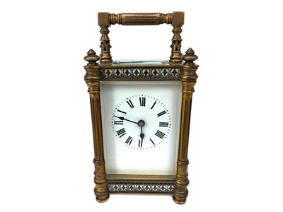 Lot 1120-A LATE 19TH CENTURY BRASS CARRIAGE CLOCK