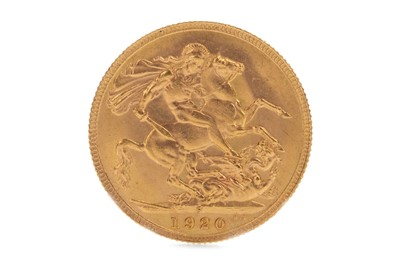 Lot 50-A GOLD SOVEREIGN, 1920