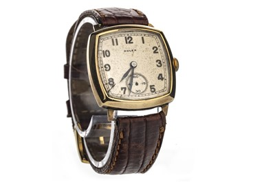 Lot 751-A GENTLEMAN'S ROLEX NINE CARAT GOLD MANUAL WIND WRIST WATCH