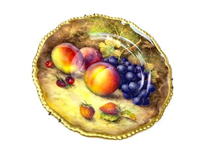 Lot 1027-A ROYAL WORCESTER CABINET PLATE BY R. SEBRIGHT