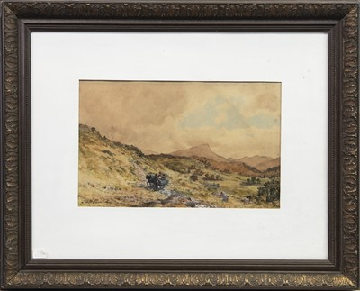 Lot 23-LOCH VAIL WITH BEN LOMOND IN THE DISTANCE, A WATERCOLOUR BY JOHN BLAKE MACDONALD
