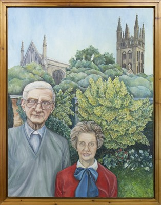 Lot 130 - THE REV. AND MRS MICHAEL FREEMAN, AN OIL BY MARCIA WILSON