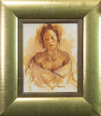 Lot 645-THE COUNTRY GIRL, A WATERCOLOUR BY ANNE ANDERSON
