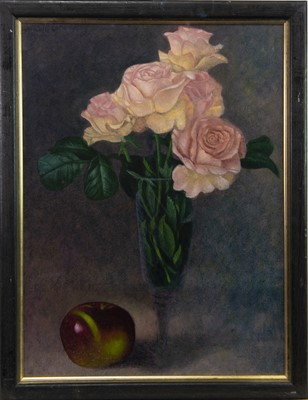 Lot 658-APPLES AND ROSES, AN OIL BY JAMES MCDONALD
