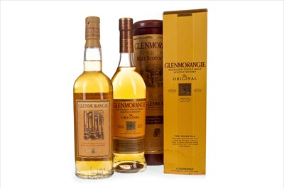 Lot 320-TWO BOTTLES OF GLENMORANGIE 10 YEARS OLD