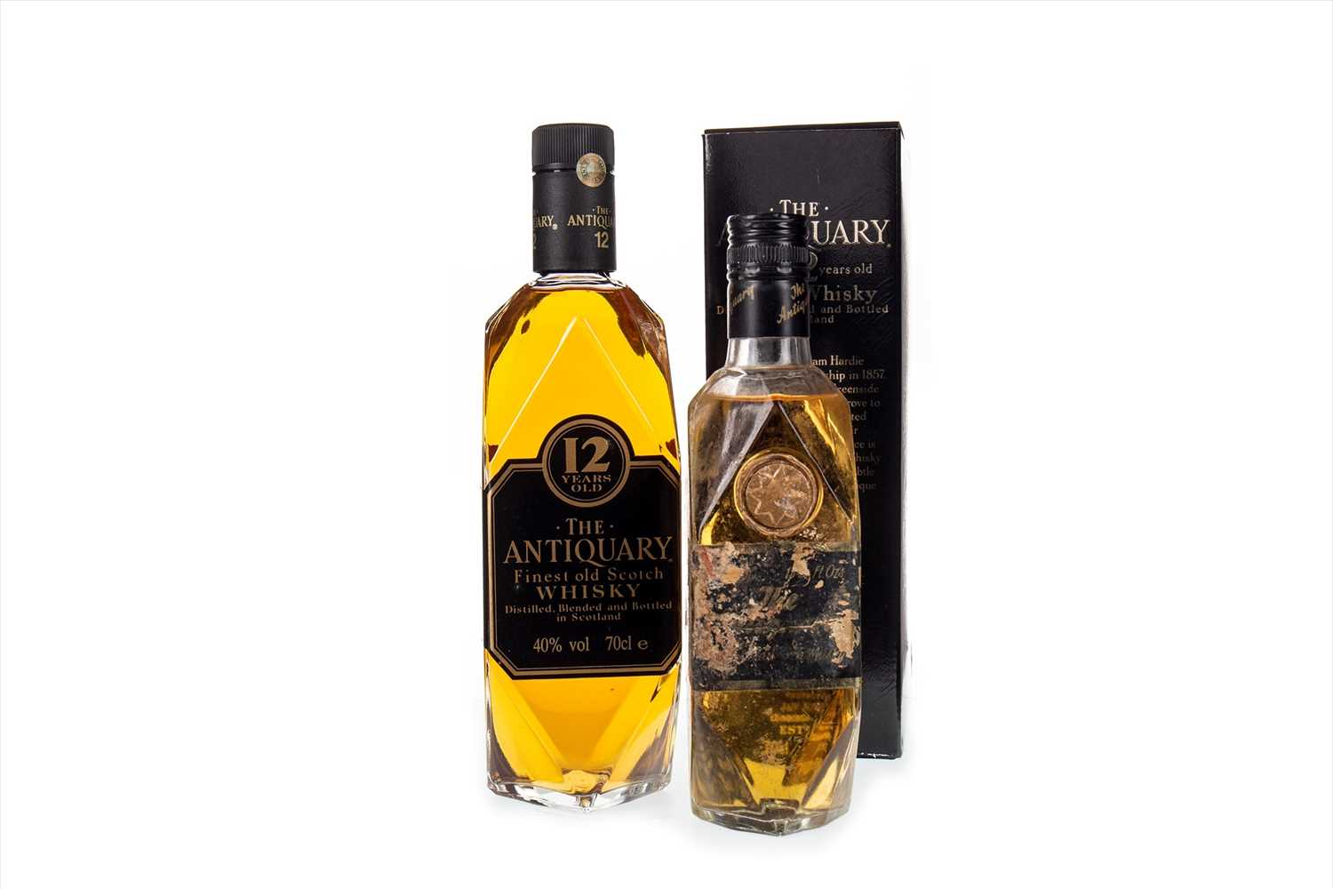 Lot 410-ONE AND A HALF BOTTLES OF ANTIQUARY 12 YEARS OLD