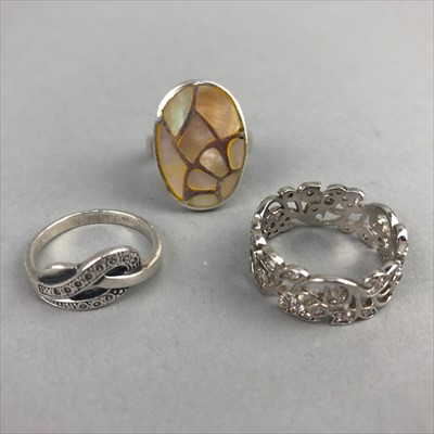 Lot 19-A LOT OF SILVER RINGS