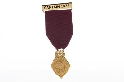 Lot 1707 - A NINE CARAT GOLD GLASGOW GOLF CLUB MEDAL