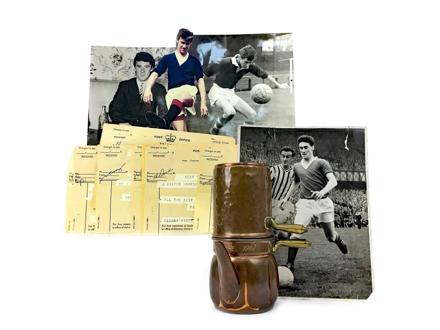 Lot 1712 - JIM BAXTER OF RANGERS F.C. - AN ARCHIVE RELATING TO HIS CAREER