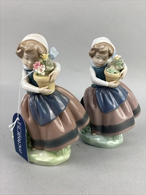 Lot 21-A LOT OF LLADRO AND NAO FIGURES