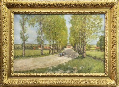 Lot 29-FIGURE ON A COUNTRY PATH, AN OIL BY DAVID NEAVE