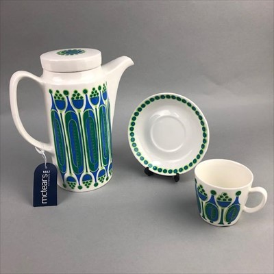 Lot 7-A NORWEGIAN PART COFFEE SERVICE ALONG WITH A PAIR OF PIN DISHES