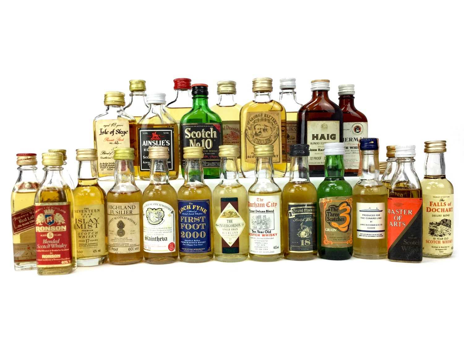 Lot 423-EIGHTY-SIX BLENDED SCOTCH WHISKY MINIATURES
