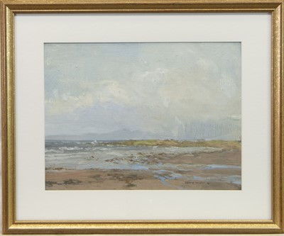 Lot 34-COASTAL SCENE, AN OIL BY GEORGE HOUSTON