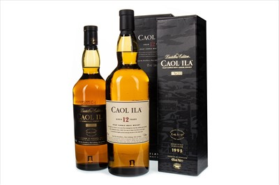 Lot 326-CAOL ILA 1995 DISTILLERS EDITION AND ONE LITRE OF CAOL ILA AGED 12 YEARS