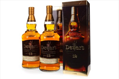 Lot 415-TWO LITRES OF DEWAR'S AGED 12 YEARS