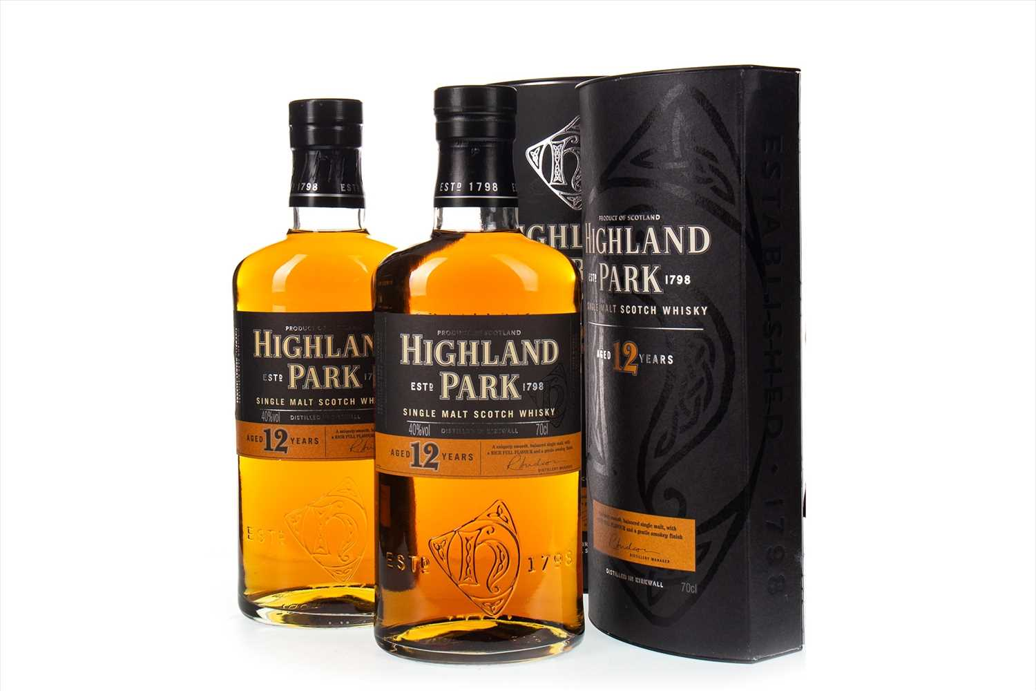 Lot 325-TWO BOTTLES OF HIGHLAND PARK AGED 12 YEARS