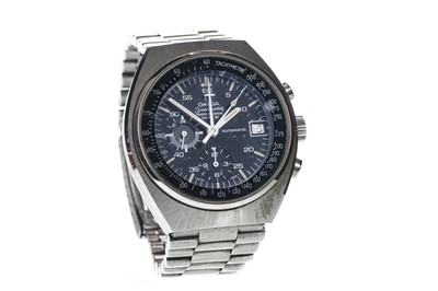 Lot 703 - A GENTLEMAN'S OMEGA SPEEDMASTER MARK IV STAINLESS STEEL AUTOMATIC WRIST WATCH