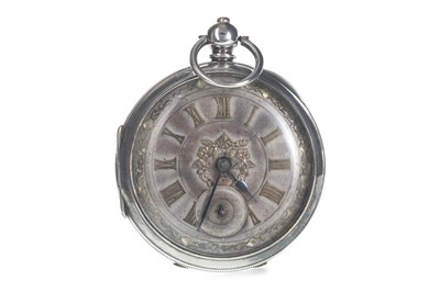 Lot 722 - A SILVER OPEN FACE  POCKET WATCH