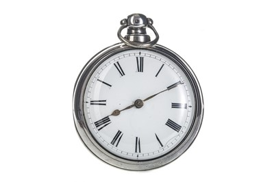 Lot 723 - A SILVER OPEN FACE POCKET WATCH