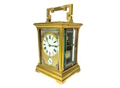 Lot 1133 - A VICTORIAN GILTMETAL CARRIAGE CLOCK