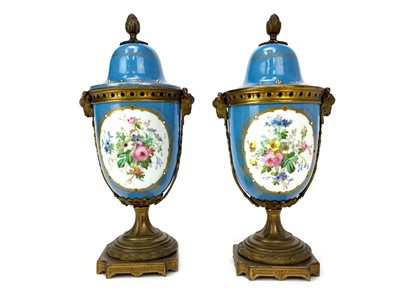 Lot 1140 - A PAIR OF VICTORIAN GARNITURE VASES