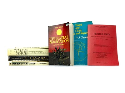 Lot 1148 - A LOT OF BOOKS RELATING TO CLOCKS AND TIMEPIECES