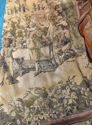 Lot 1625-A LARGE MACHINE MADE VERDURE TYPE TAPESTRY WALL HANGING