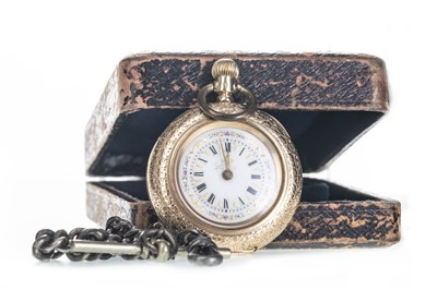 Lot 705 - A LADY'S GOLD FOB WATCH