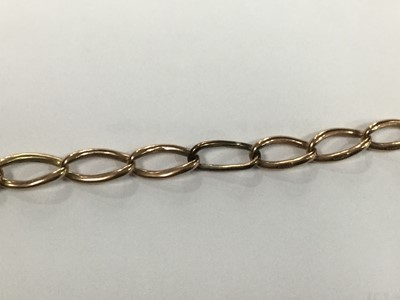 Lot 707-A GOLD WATCH CHAIN