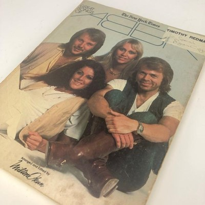 Lot 1627-AN AUTOGRAPHED COPY OF THE GREAT SONGS OF ABBA