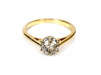 Lot 1314-A DIAMOND SOLITAIRE RING