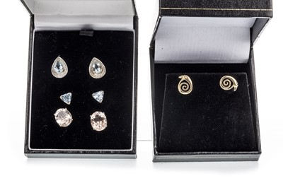 Lot 1328-A LOT OF FOUR PAIRS OF EARRINGS