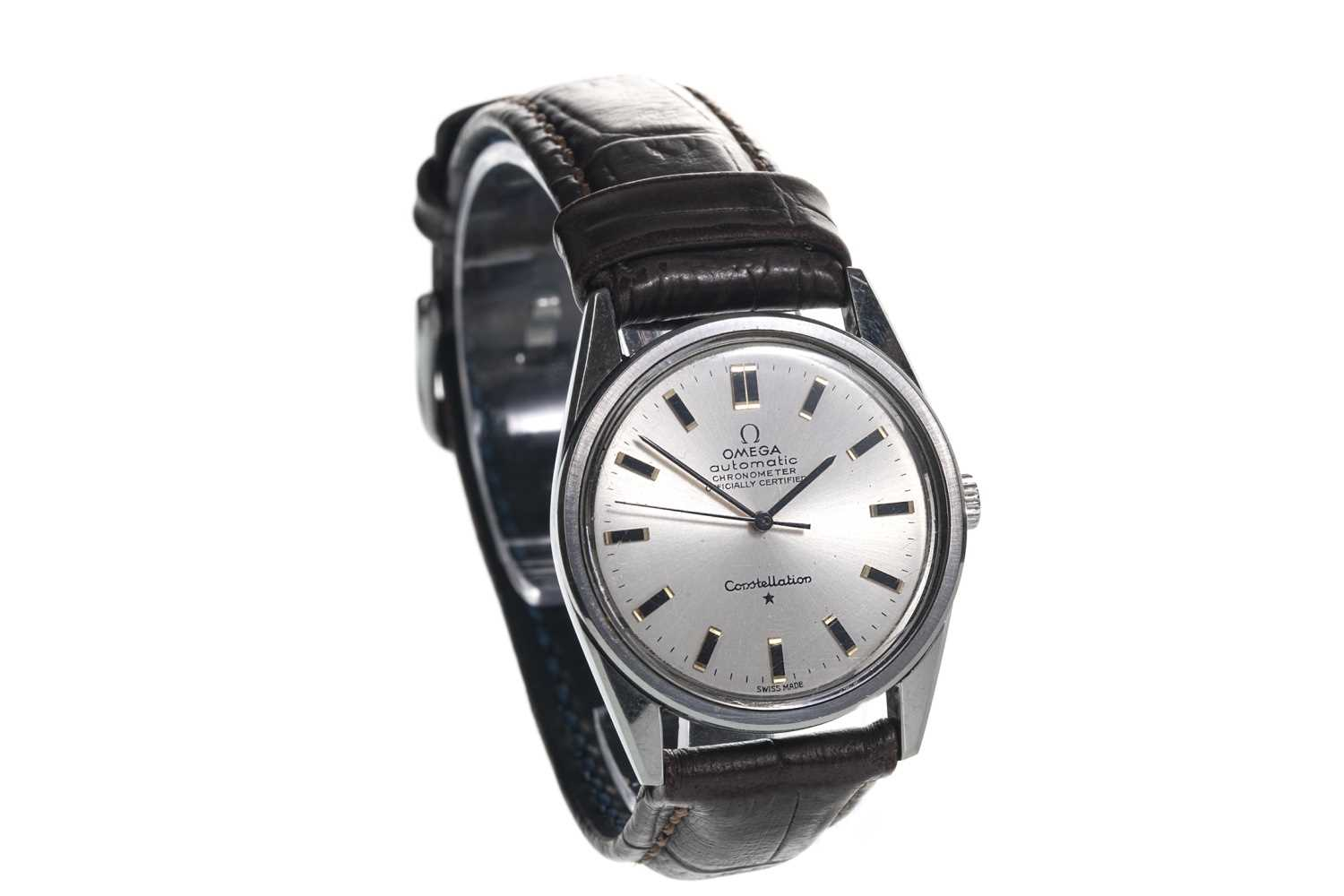 Lot 708-A GENTLEMAN'S OMEGA CONSTELLATION STAINLESS STEEL AUTOMATIC WRIST WATCH