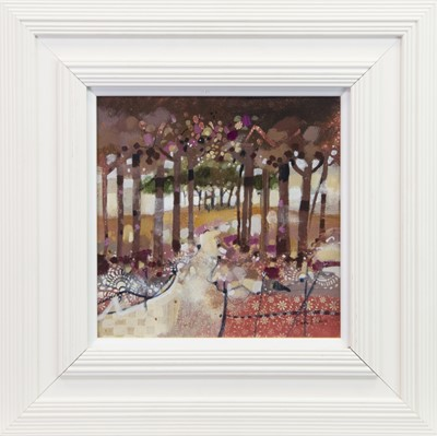 Lot 525-AUTUMN WALK, A MIXED MEDIA BY EMMA DAVIS